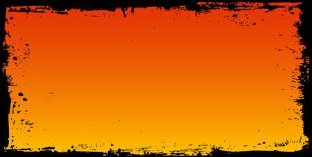 Halloween background frame Illustration