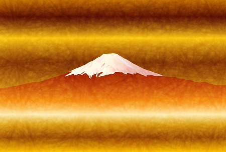 new years: Fuji New Years card background Illustration