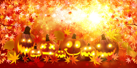 Halloween-Kürbis Ahorn Standard-Bild - 43399082