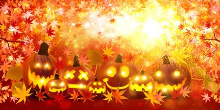 Halloween pumpkin maple 版權商用圖片 - 43399082