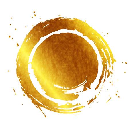 Frame gold Kreis Standard-Bild - 43399267