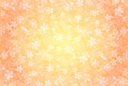 新年のカード桜背景  イラスト・ベクター素材