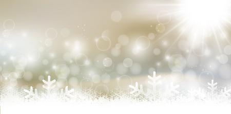 雪のクリスマス背景