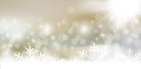 Snow Christmas background  イラスト・ベクター素材