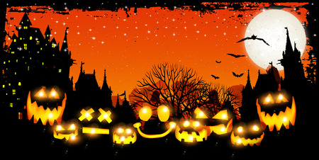 Halloween pumpkin background 版權商用圖片 - 44062151