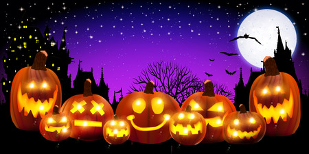 Halloween dyni tła Ilustracje wektorowe