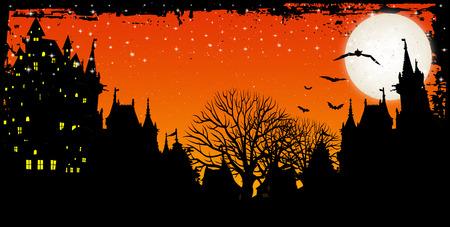 night: Halloween night sky background