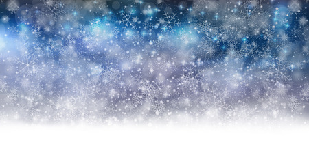 on snow: Snow Christmas background Illustration