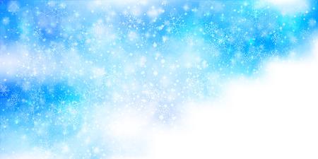 Snow Christmas background 版權商用圖片 - 44058476