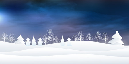 snowy mountains: Snow Christmas background Illustration