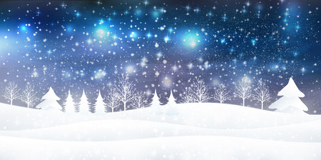 Snow Christmas background 向量圖像