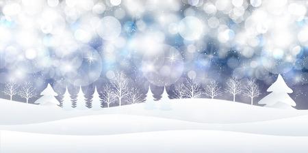 Snow Christmas background Vettoriali