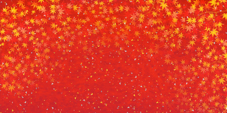 red and gold: Maple autumn leaves background