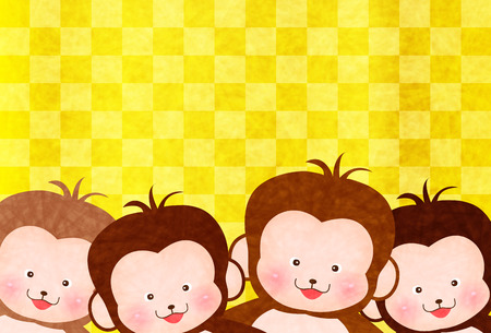 Monkey greeting cards background royalty free cliparts vectors and monkey greeting cards background stock vector 44346796 m4hsunfo
