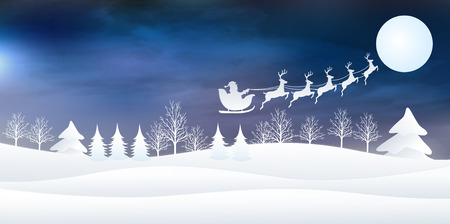 christmas backgrounds: Snow Christmas background Illustration