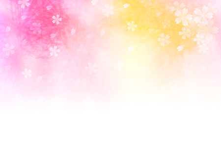 New Years card cherry background Illustration