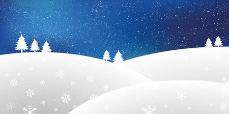 snow landscape: Snow Christmas background Illustration