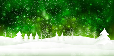 La luz de fondo de la nieve