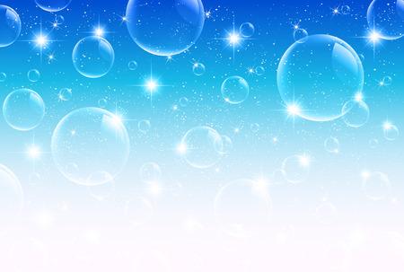 空海シャボン玉  イラスト・ベクター素材