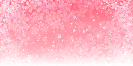 Spring cherry background Ilustracja