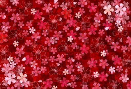 japanese paper: Japanese paper cherry background Illustration