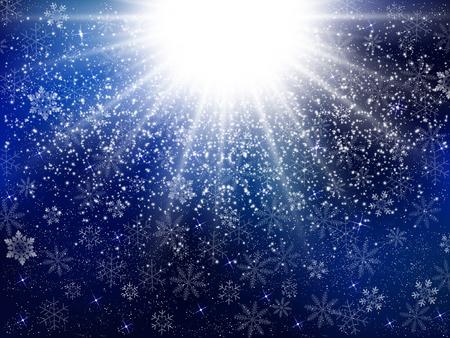 star sky: Snow light background