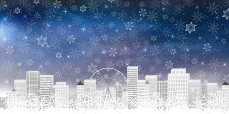 building: Snow building background