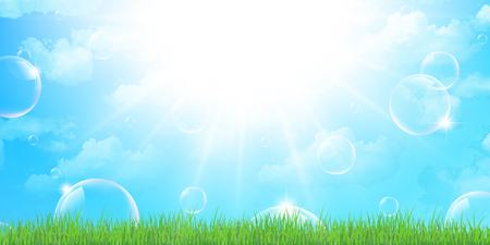 bubble background: Sapone vuota bolla di sfondo