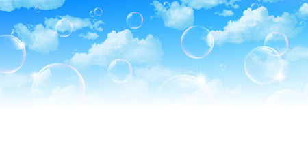 bubble background: Empty soap bubble background