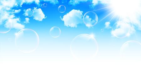 Sky modrá obloha na pozadí Ilustrace