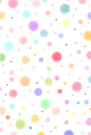 Polka dot colorful New Year's card 일러스트