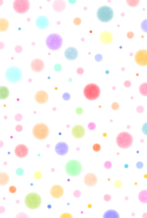 Polka dot colorful New Year's card Illustration