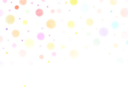 水玉カラフルな年賀状