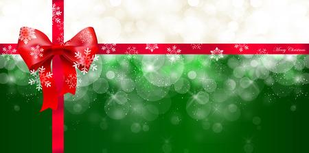 Snow Christmas ribbon