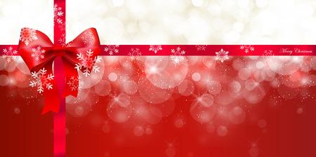 christmas snow: Snow Christmas ribbon
