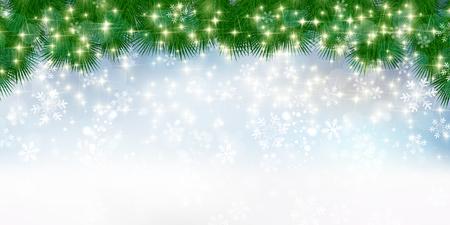 Christmas fir tree background