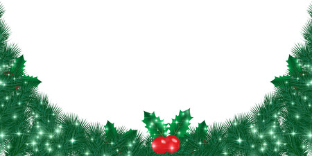 christmas background: Christmas holly background