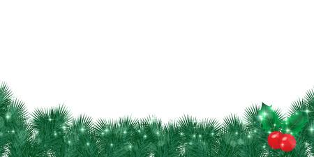 christmas background: Christmas holly background