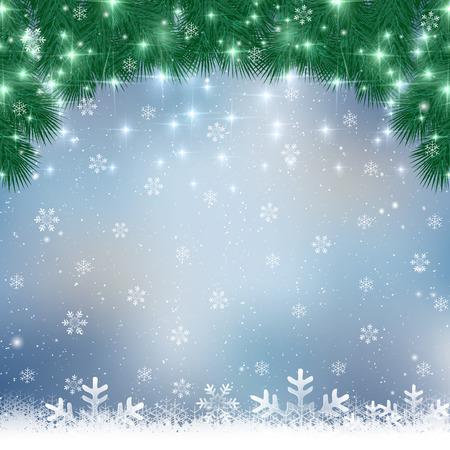 Weihnachten Schnee Hintergrund Standard-Bild - 45479965