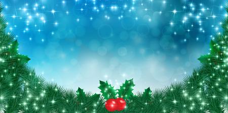 abeto: Christmas fir tree background