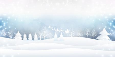Christmas fir tree Santa