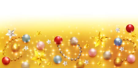 星空のクリスマス背景  イラスト・ベクター素材