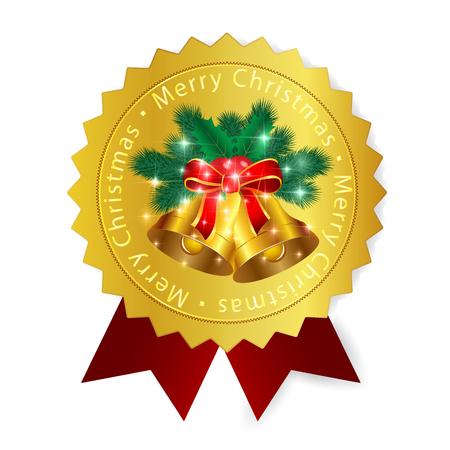 christmas icon: Christmas medal icon Illustration