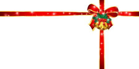 Christmas ribbon background Stock Vector - 45839737