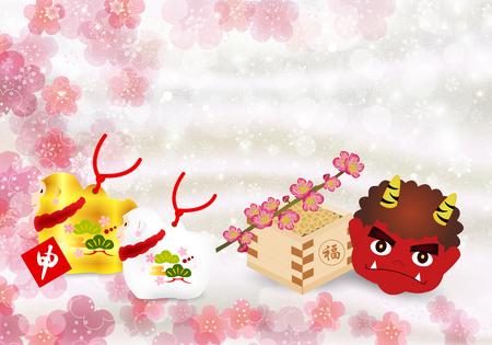 sho: Monkey Setsubun background
