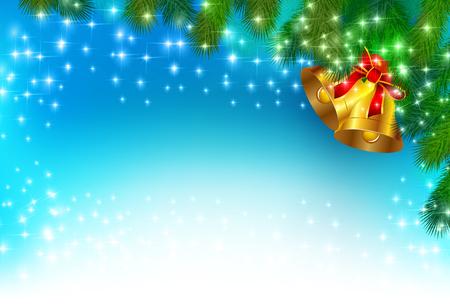 christmas snow: Trees of Christmas snow fir Illustration