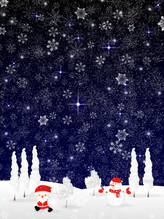 christmas snow: Snow Christmas Santa