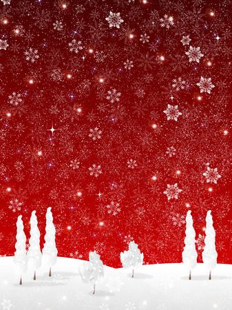 Sneeuw Kerst achtergrond Stock Illustratie