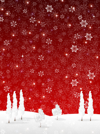 Snow Christmas background Çizim