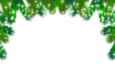크리스마스 전나무 트리 배경 일러스트